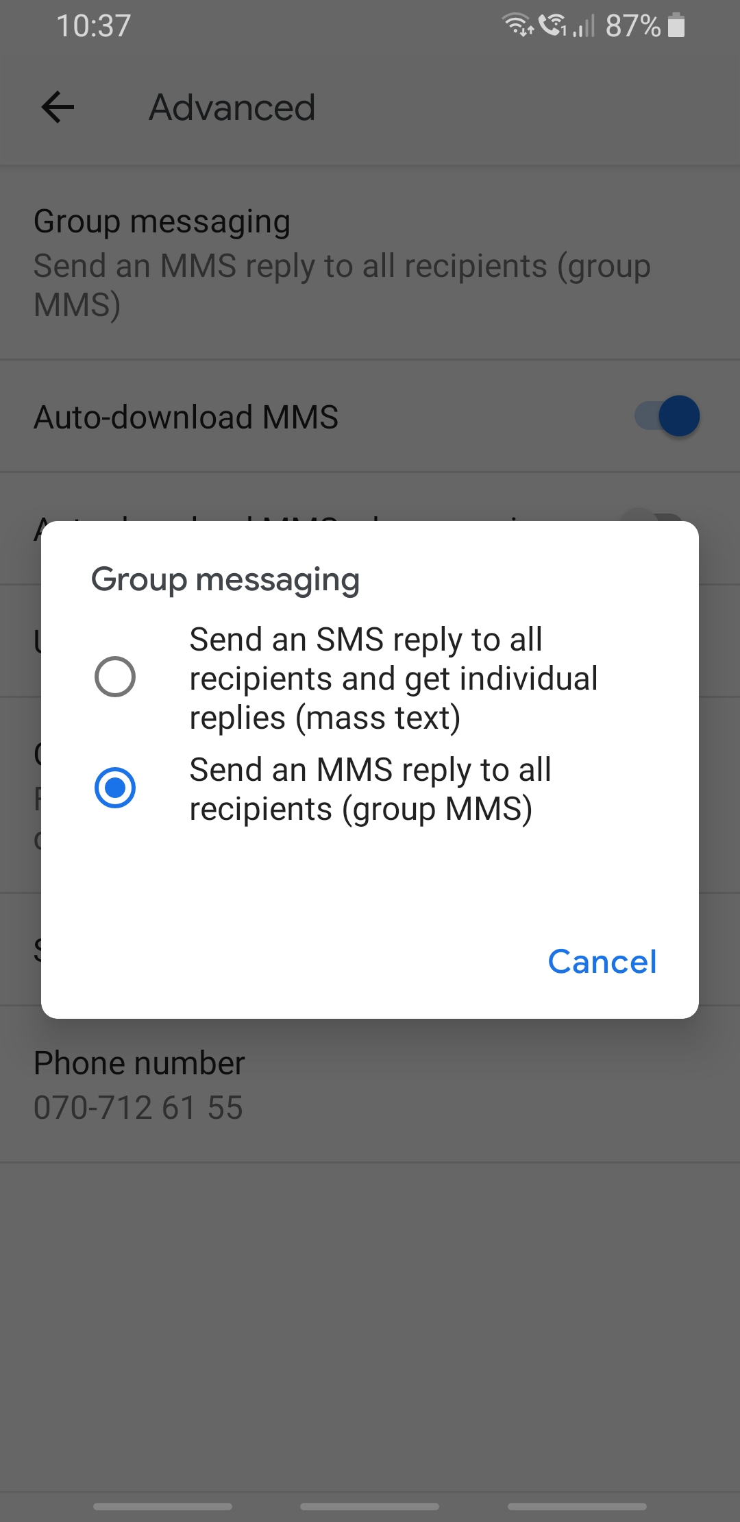 Replies to group messages are coming as individual texts