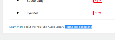 Can I use music from youtube audio library for a video