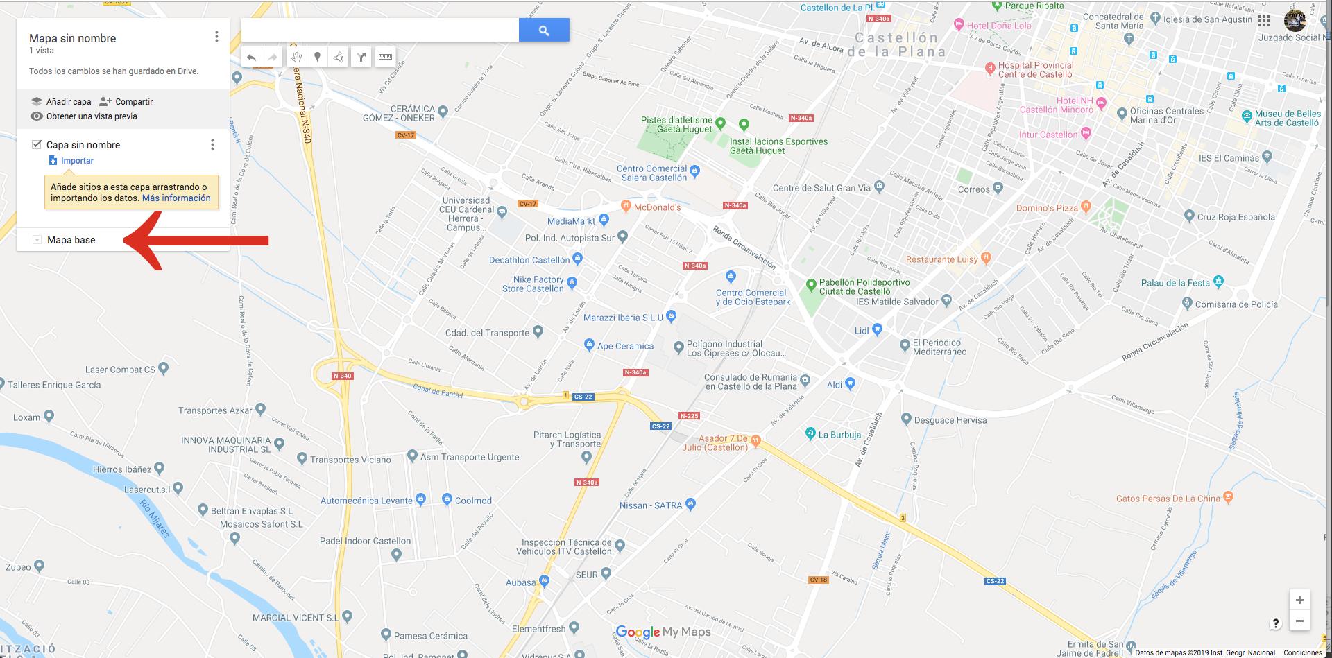 Crear Un Mapa Personalizado.Como Puedo Retirar Desactivar De Mi Mapa Todos Los Bancos