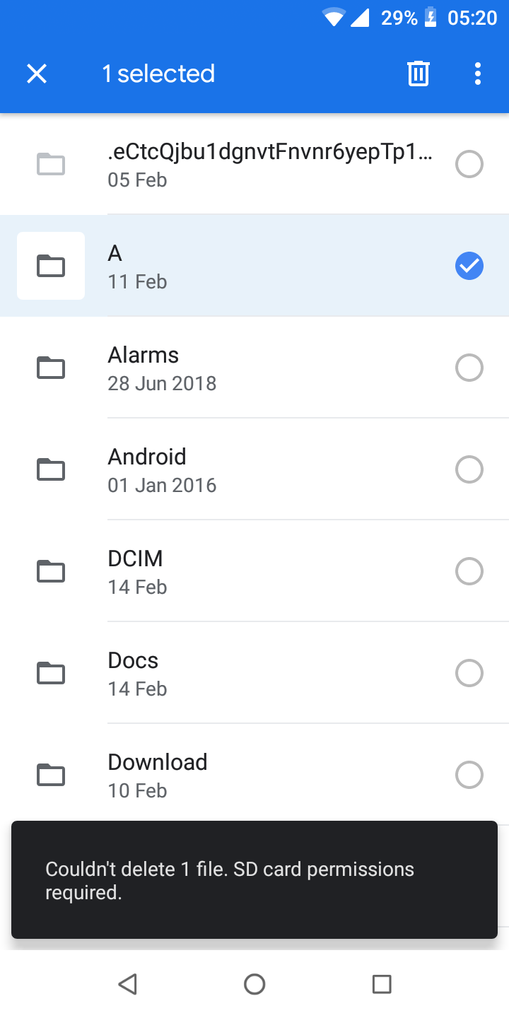 Why can't I Create a new folder with Google Files - Files by Google Help