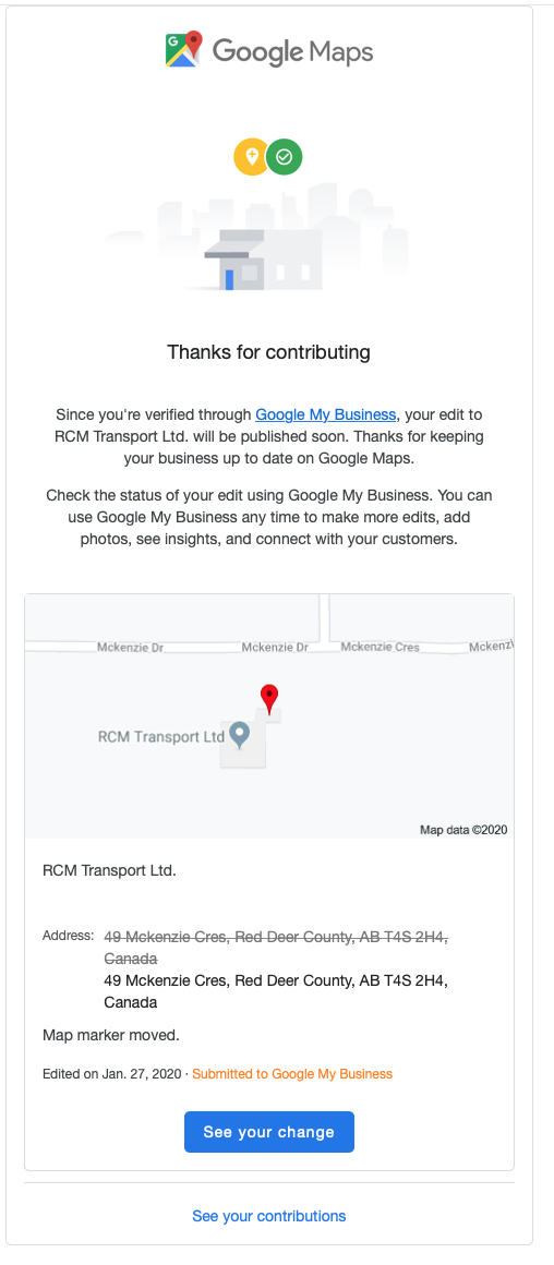The Google Maps address for my business is incorrect. Editing does not  work. - Google Maps Community