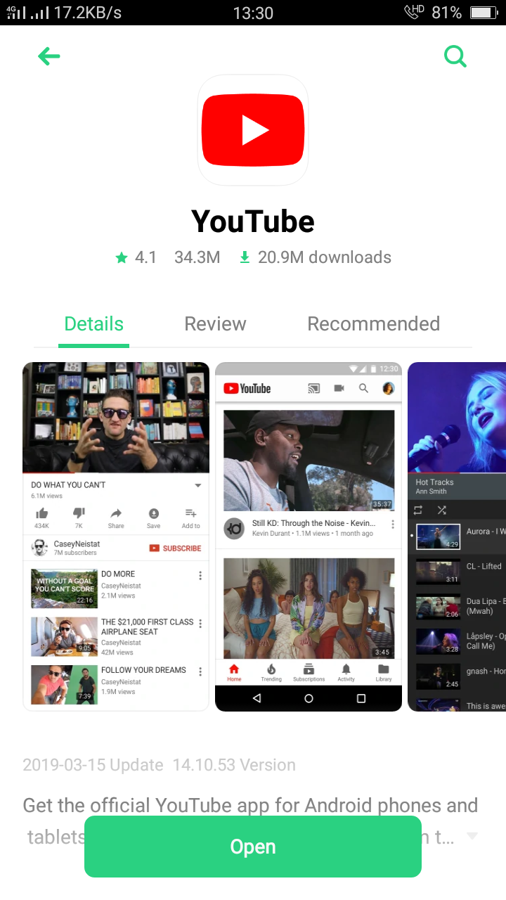 How can I install the latest update of youtube ? - Google Assistant Help