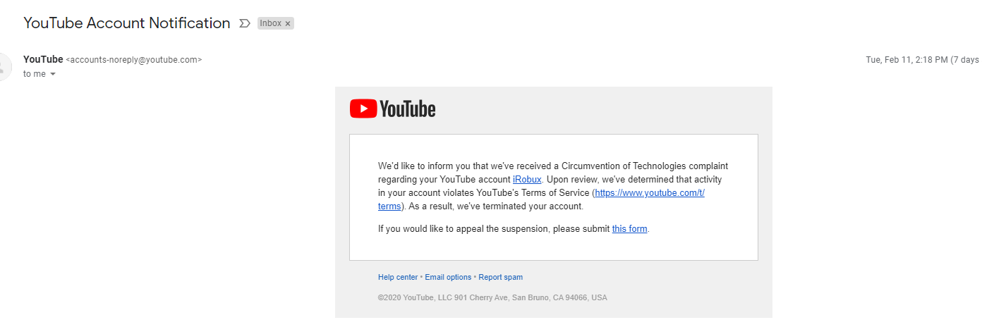 My Youtube Channel Was Wrongly Terminated Appealed And No