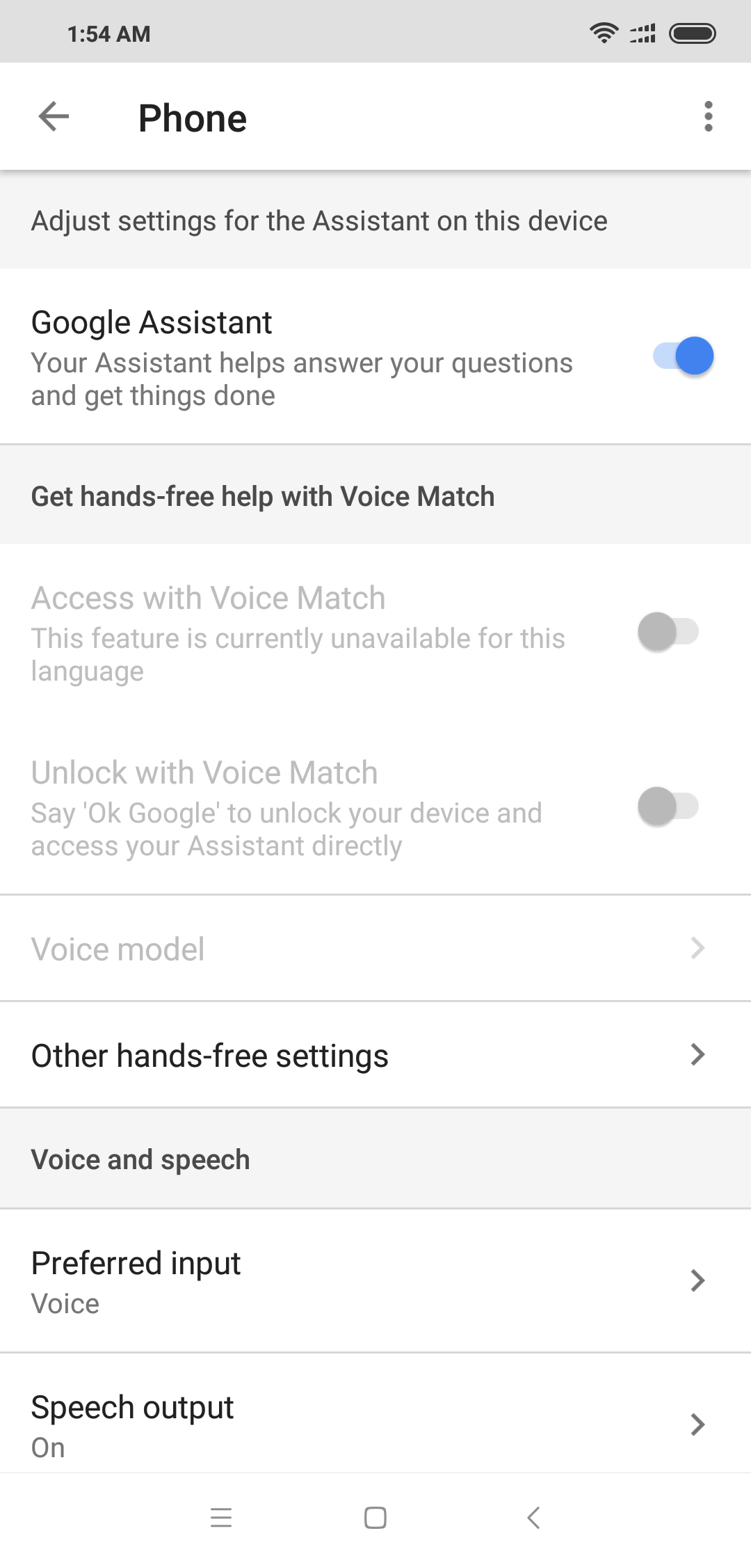 Problem with voice match unlocking the device    - Google