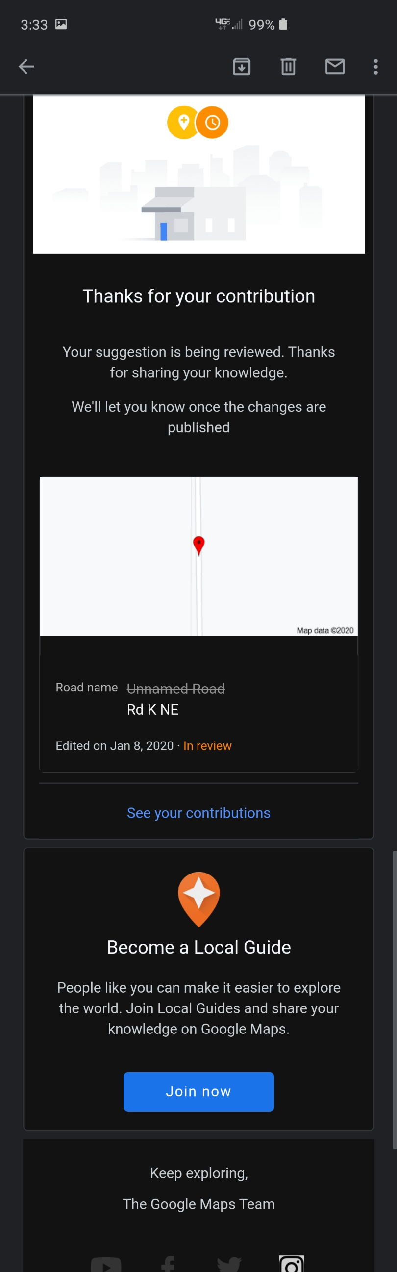 Road Edit Pending For Over A Month Google Maps Munity