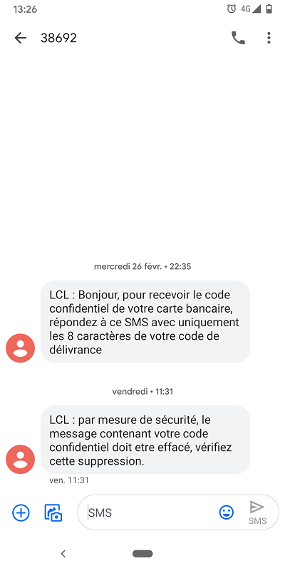carte sim data uniquement How to avoid SMS delation by a third party (the one who send the
