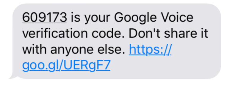 Someone sent me a request for a verification code then google voice