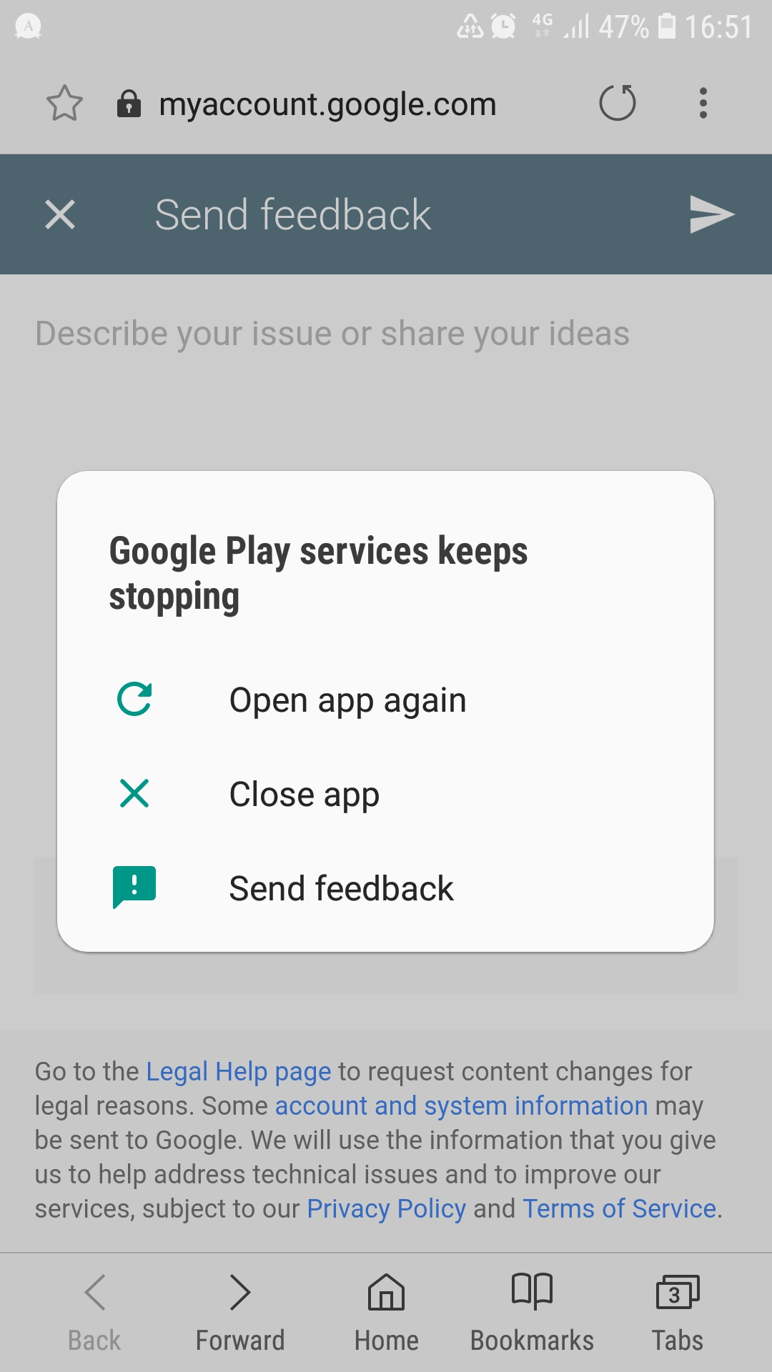 open my google play service