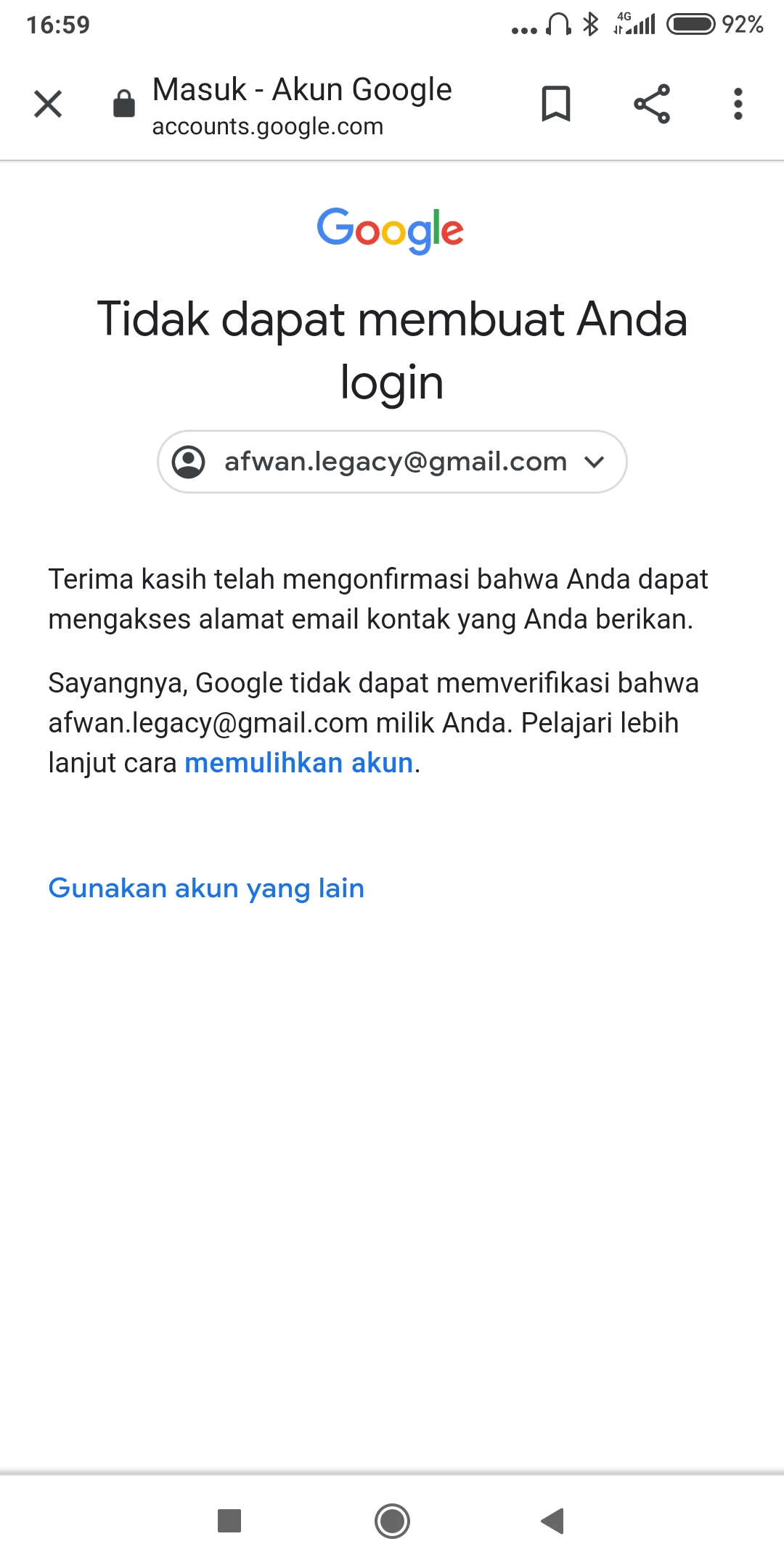 Akun Gmail Lupa Password Dan Nomer Hp Hangus Komunitas Akun Google