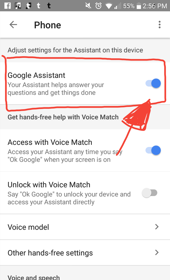 Hi, I just can't disable google assistant  There's no three dots