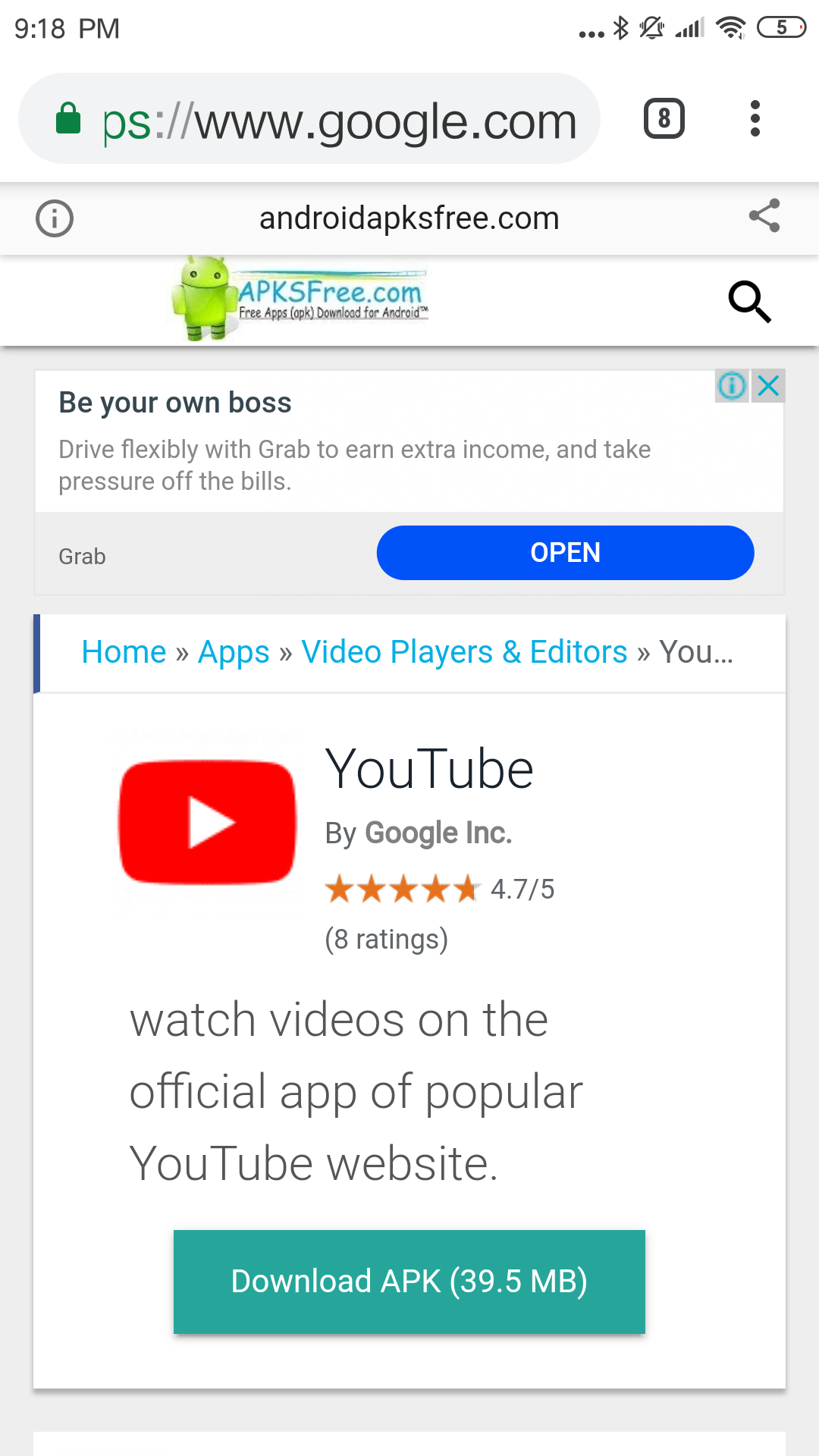 Why youtube is not compatible with my android device which