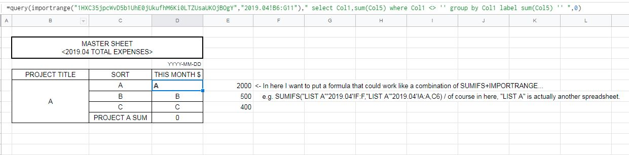 Help on the formula that could work like SUMIFS while using