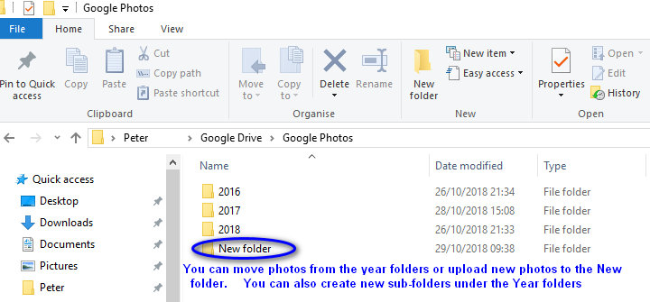 Videos aren't syncing from the Google Photos folder in My