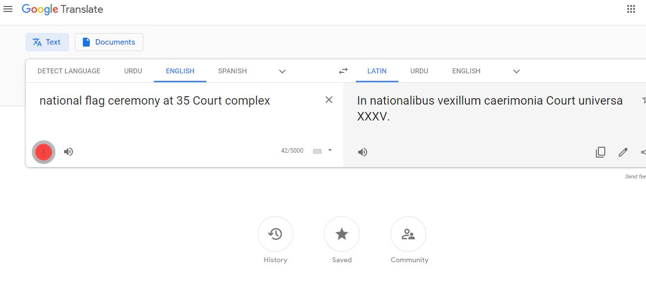 Google translate voice input not working for any languages