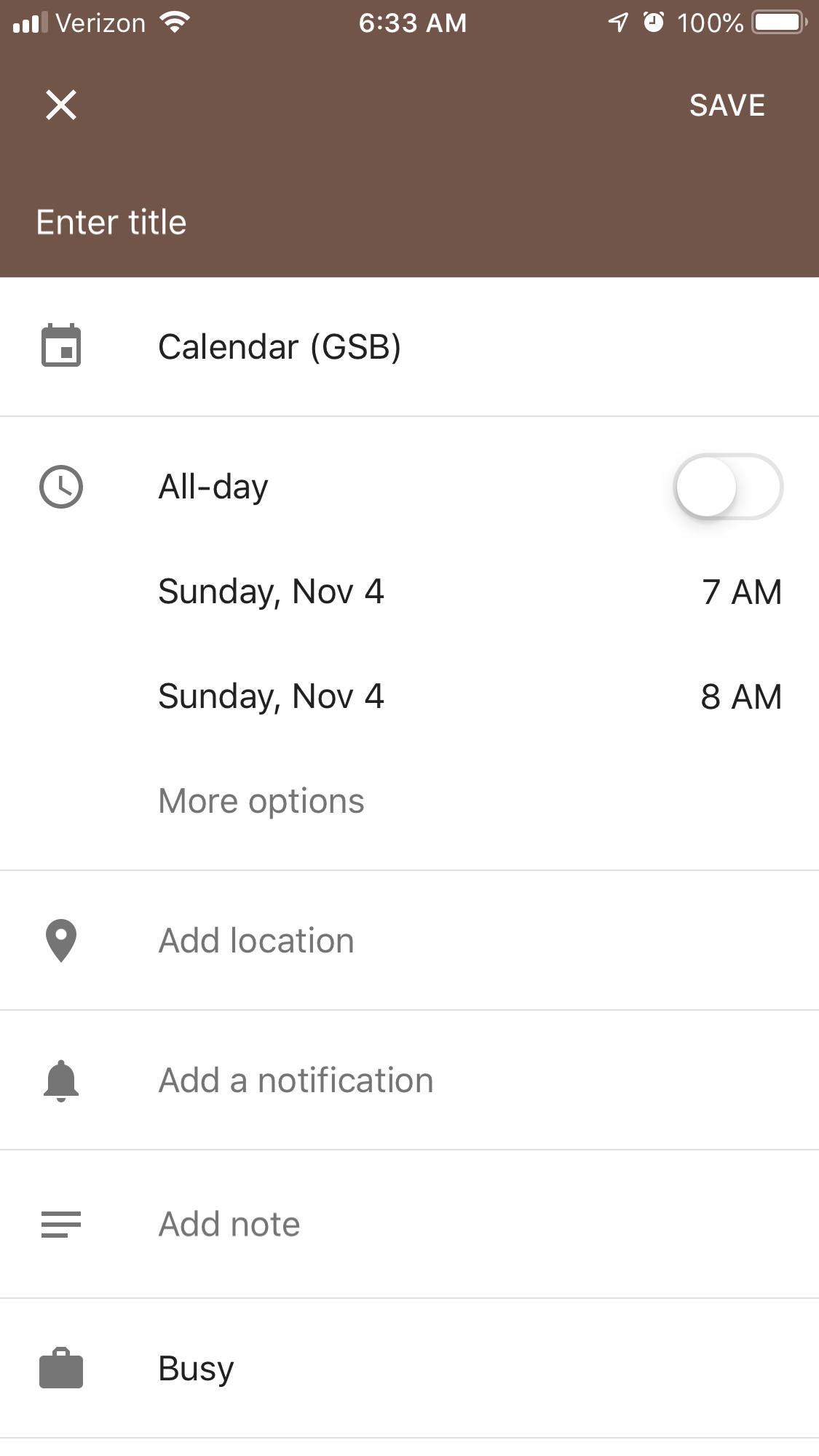 samsung s6 calendar not showing events