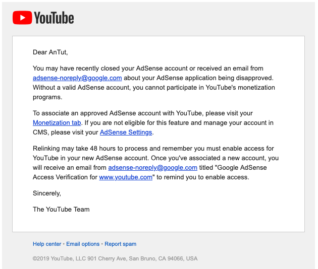 My Account Monetization Is Disabled Without Any Strikes Youtube Help