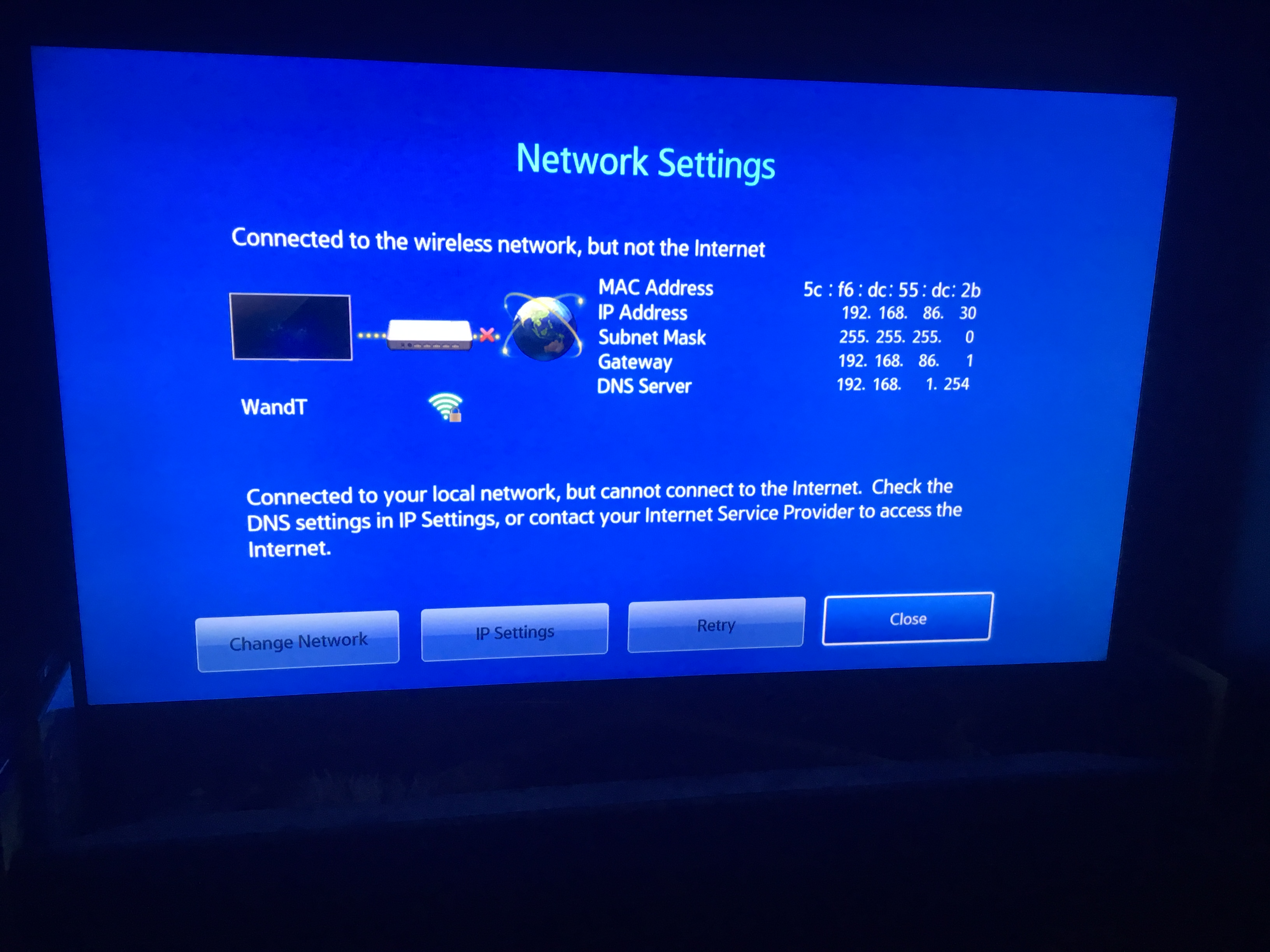 Google wifi unable to connect to Netflix app on smart TV