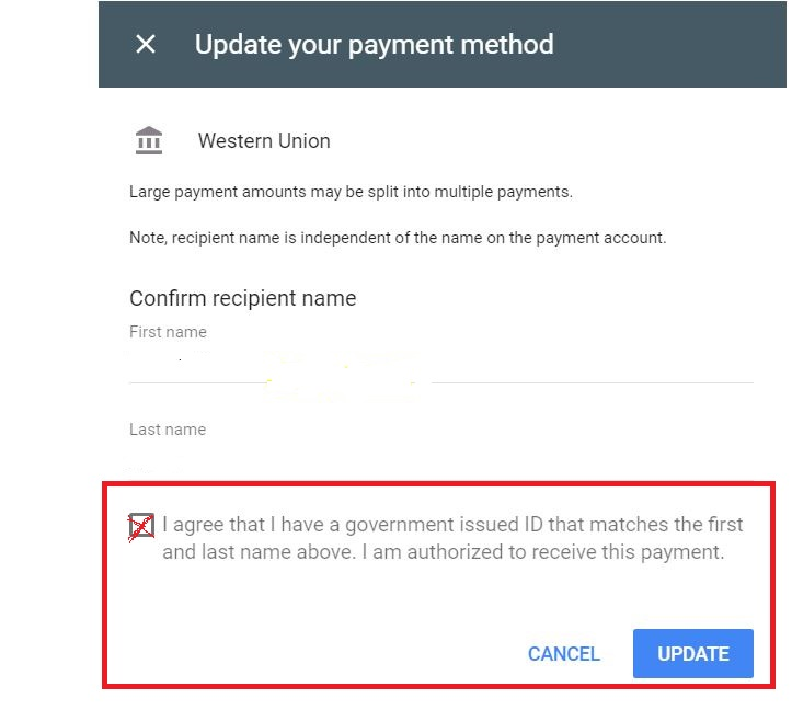 Why Western Union is holding my money and Google supporting it by