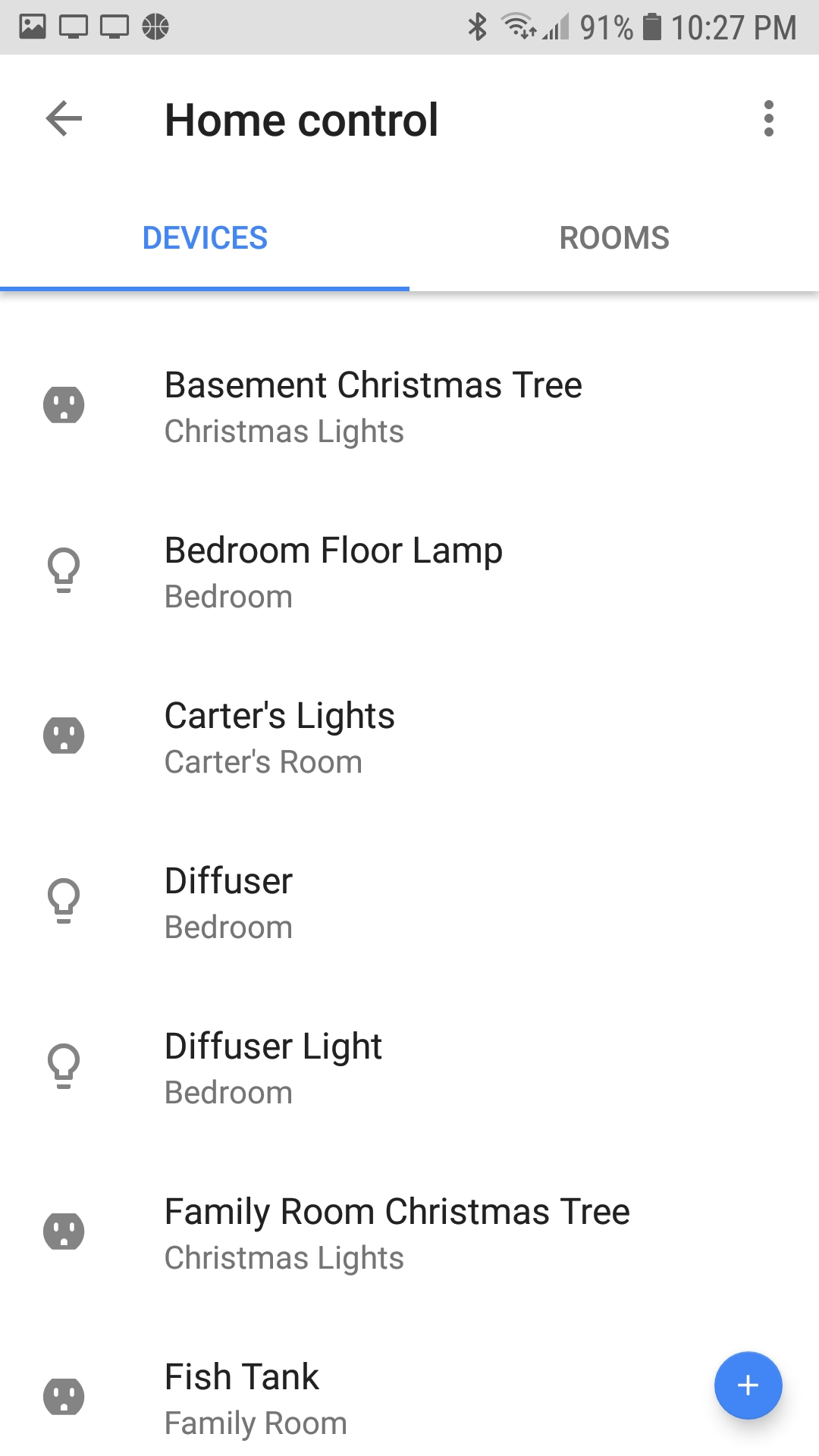 Google Assistant lists multiple Homes, showing duplicate devices