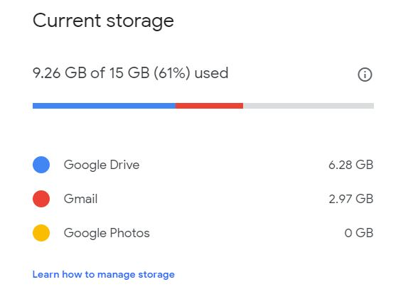 Deleted lots of files (photos/videos) but Drive usage not updating