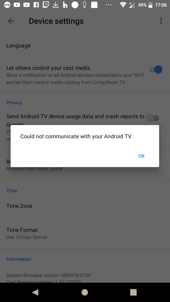 My google assistant not work properly with sony 55xf8577