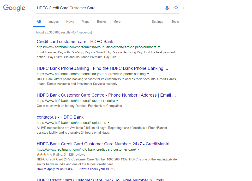 Omitted Results are Showing in Google SERP for few queries  - Search
