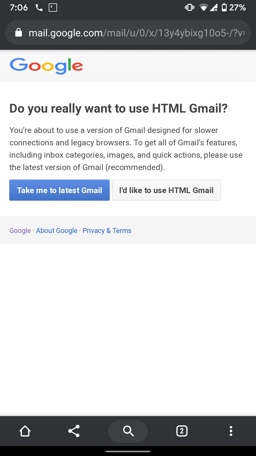 How do i quit from html view?? - Gmail Help