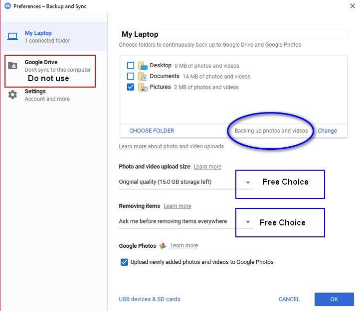 How to Import/Move Photos into Google Photos/Drive - Google