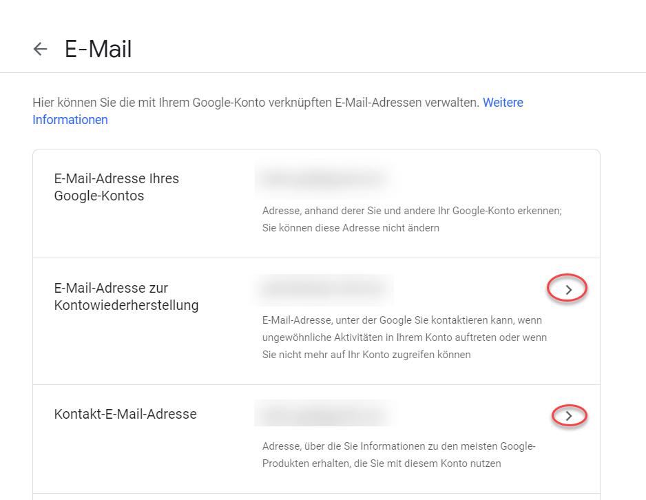 Ich Muss Die Email Von Meinem Google Konto ändern Es Ist Auf Einmal