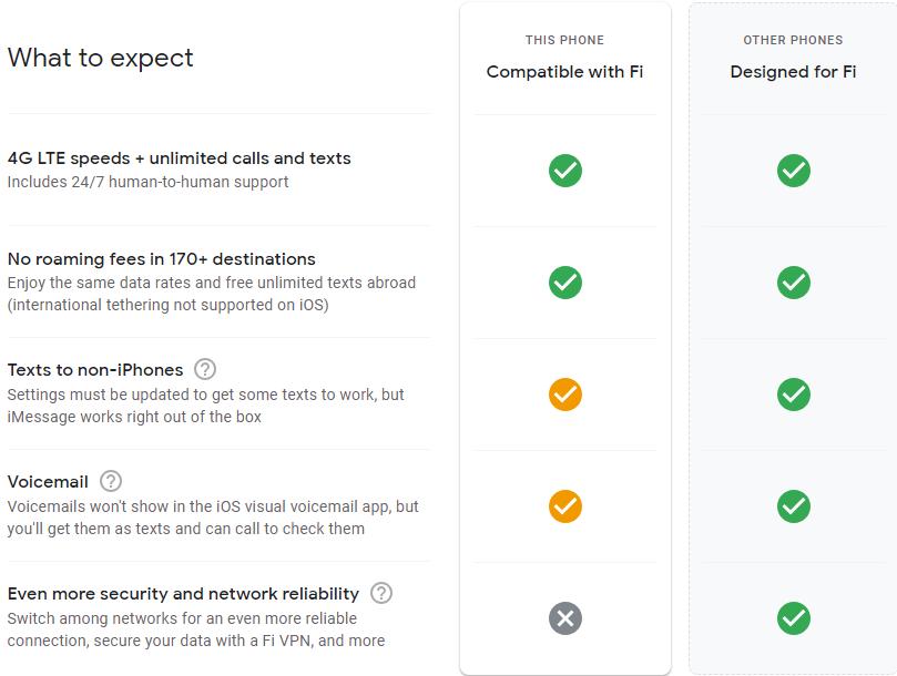 iPhone - Wi-Fi calling - Google Fi Help
