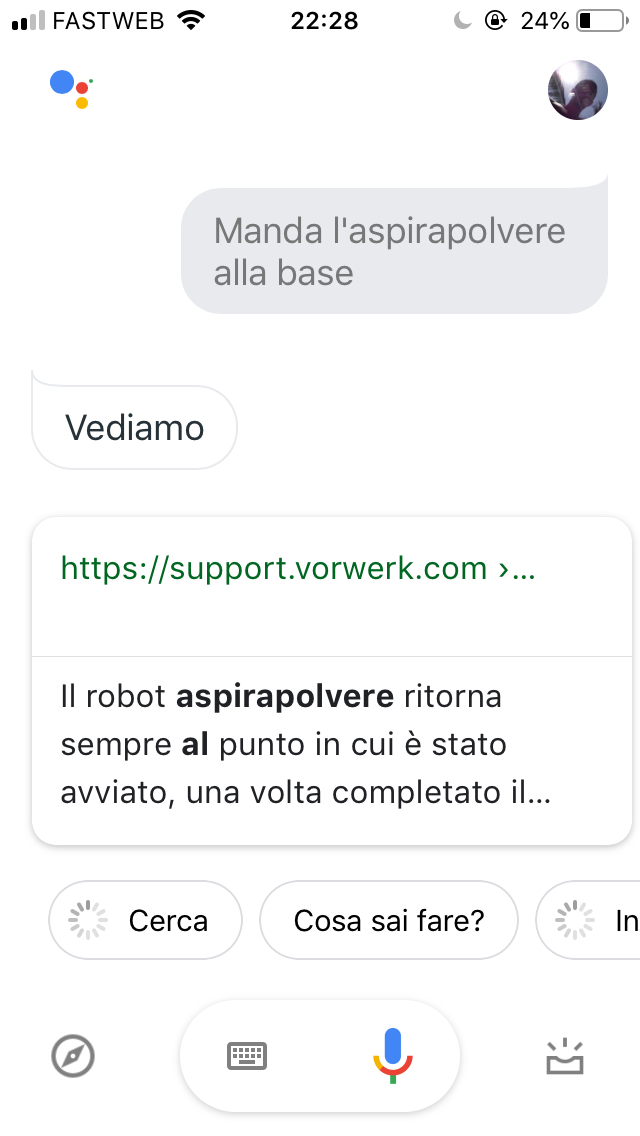Google Assistant on iPhone just searching the web - Google