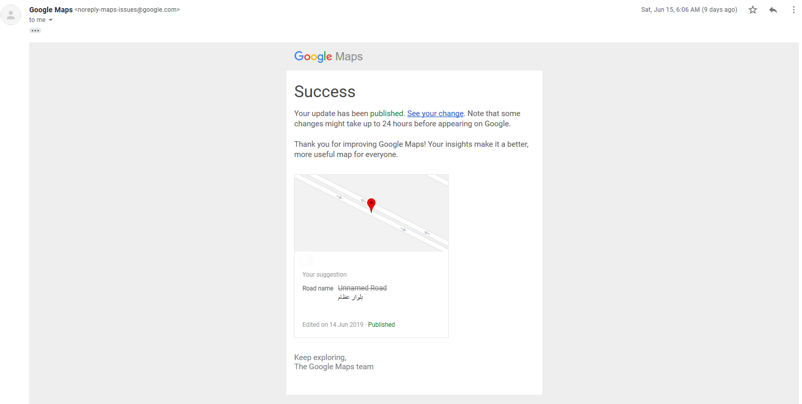 Why My Google maps Edits still remains in Pending status? - Google