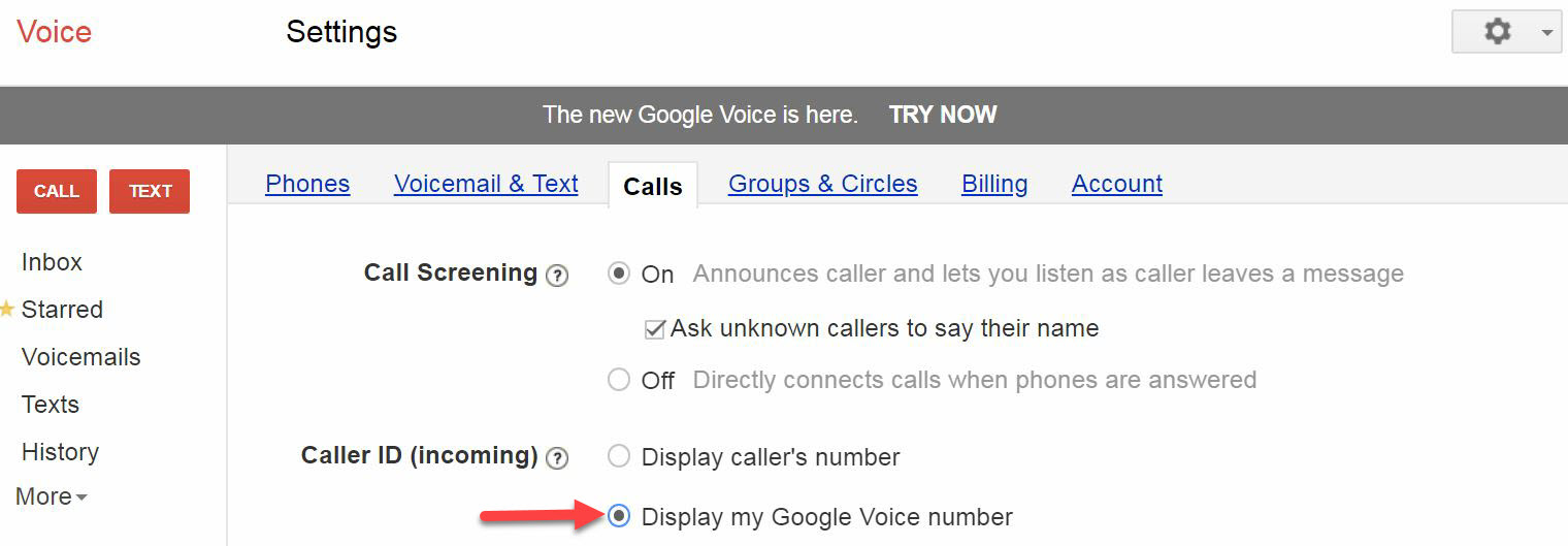 Google Voice no longer gives me option to answer call or send to