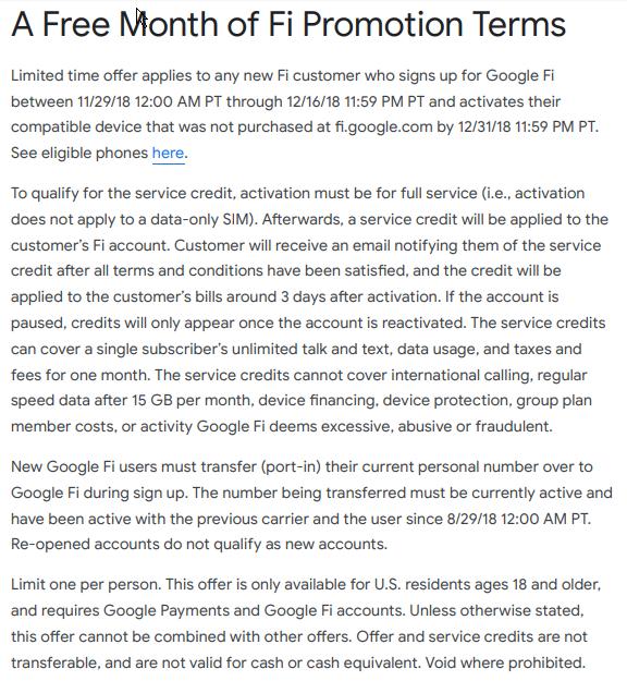 promotion credit - Google Fi Help