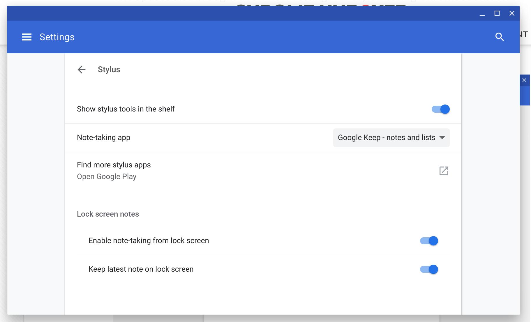 Google Keep note on Pixelbook lock screen - Pixelbook Help