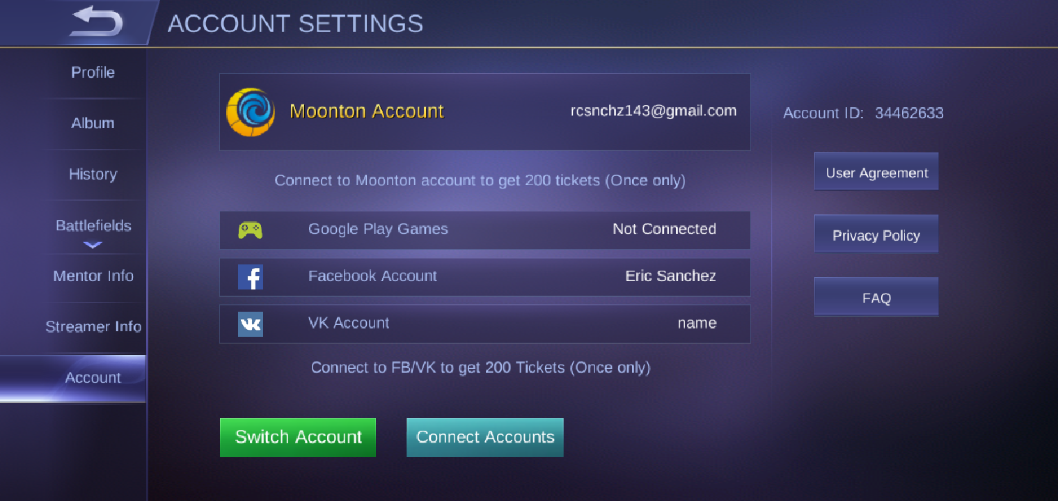 Unable to connect googl account or bind account on Mobile Legend