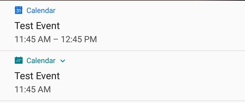 Google Calendar App (Samsung S9+) notifications don't work
