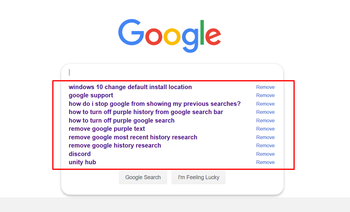 how to uninstall google search bar