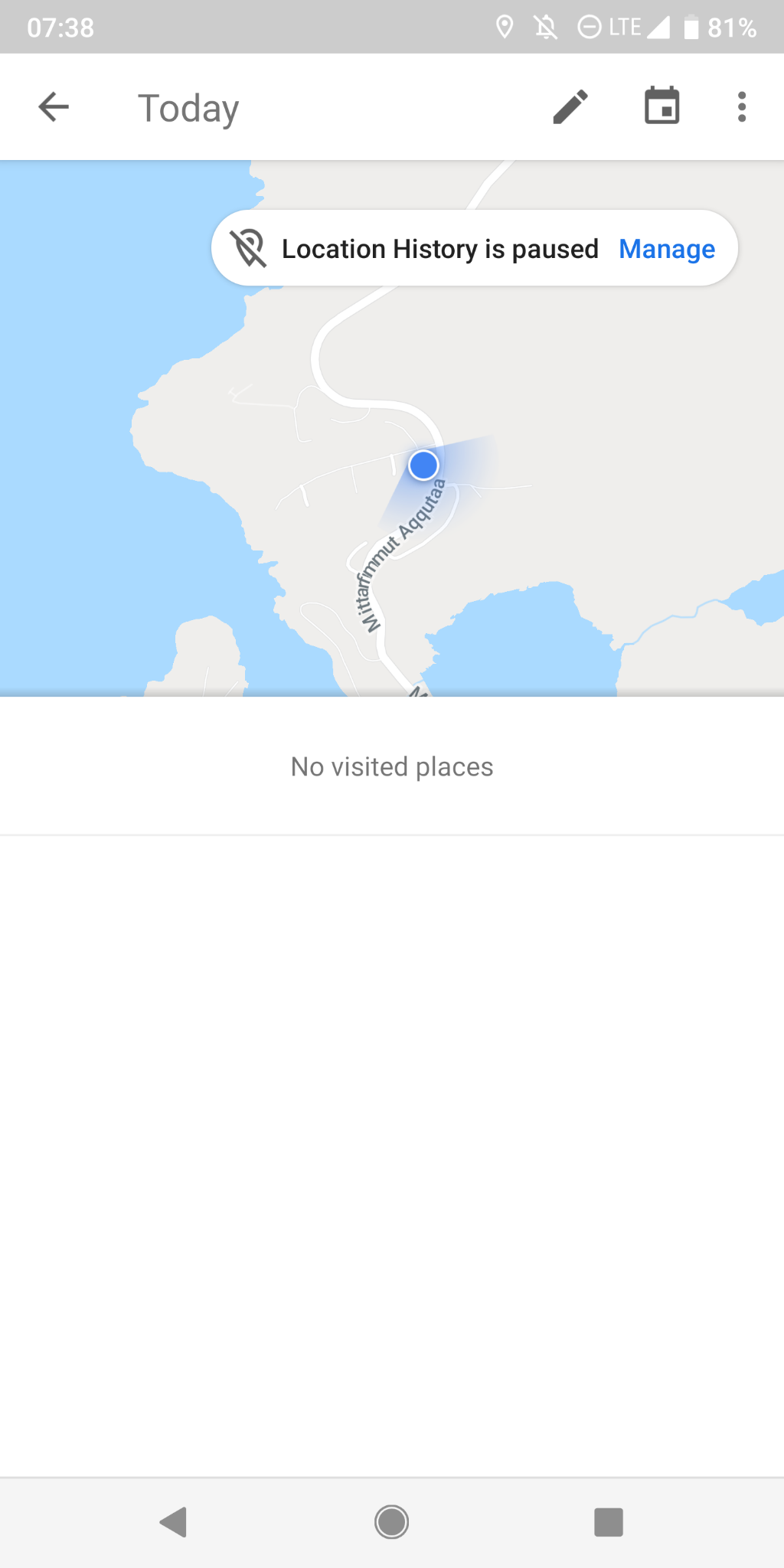 location history is not available for this device