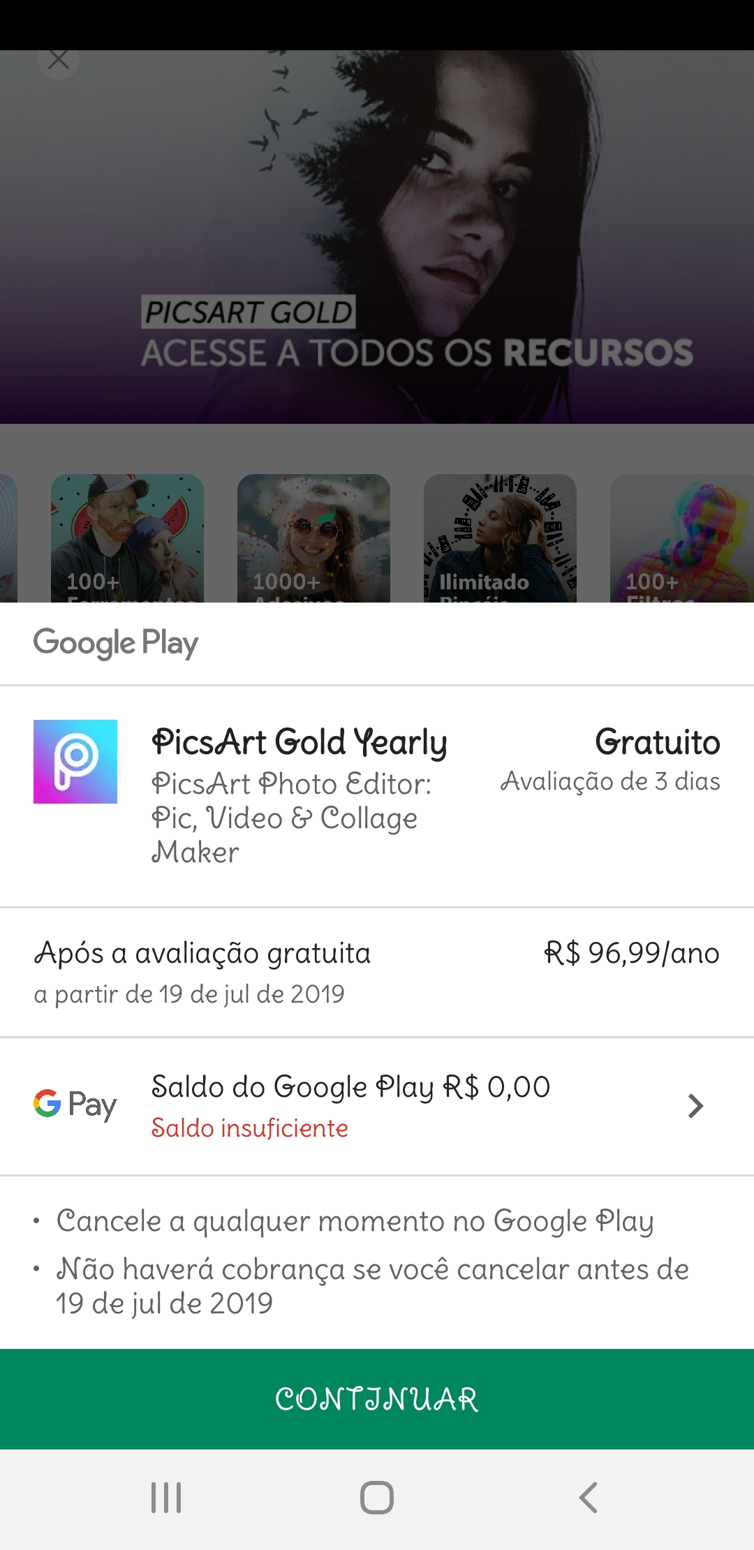 Nao Consigo Trocar De Conta Para Realizar Pagamentos Google Play