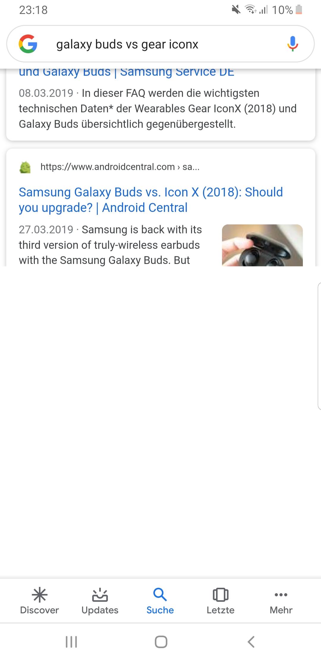 suchergebnisse können nicht geladen werden android