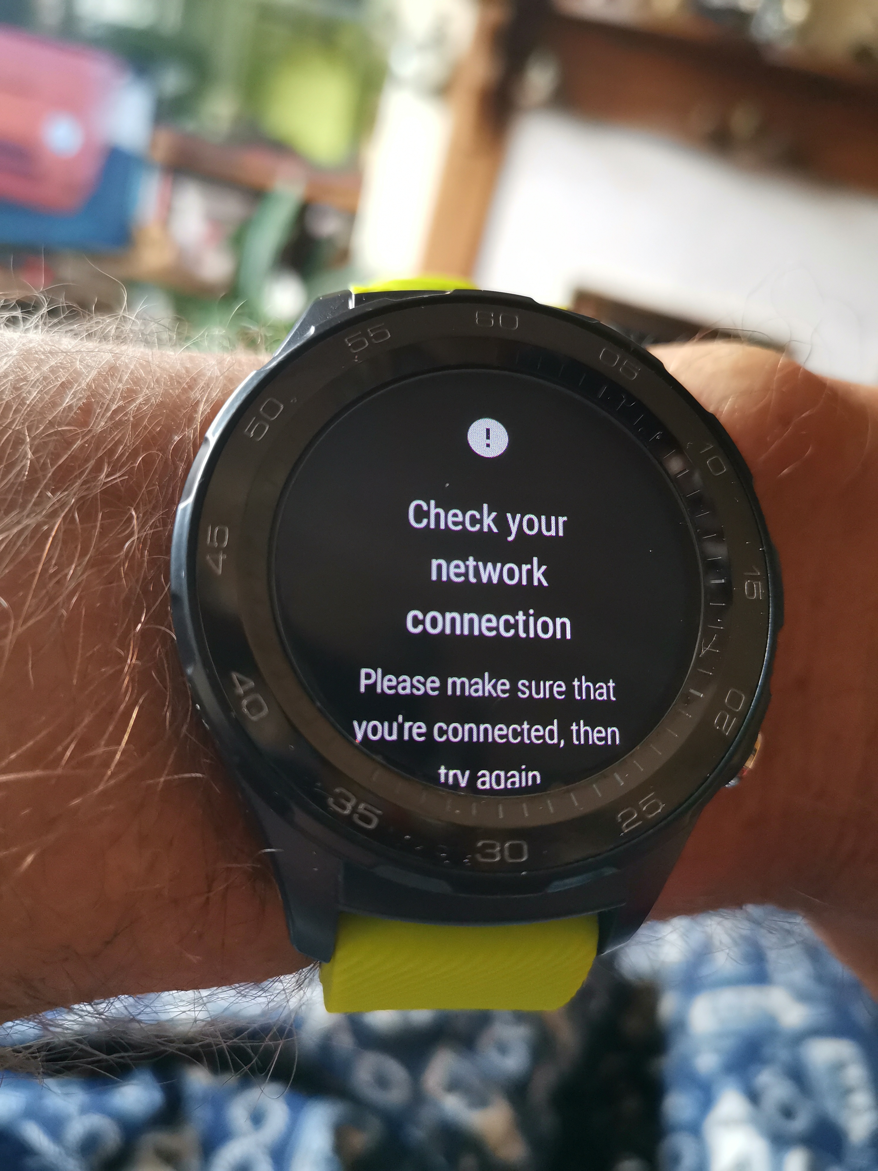 How do I get my Huawei sport watch 2 4g to connect to my