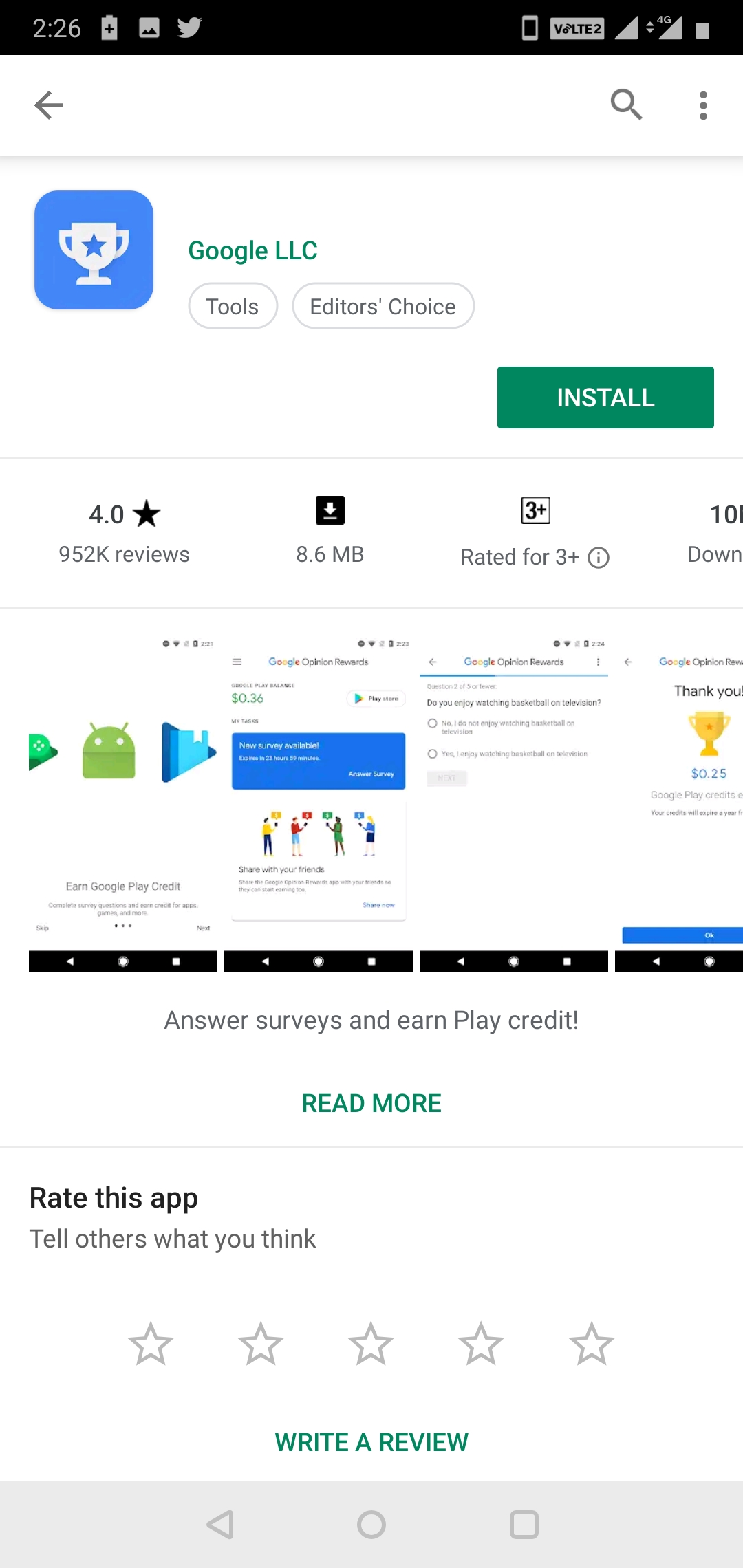 Unable to see the app names and reviews in play store