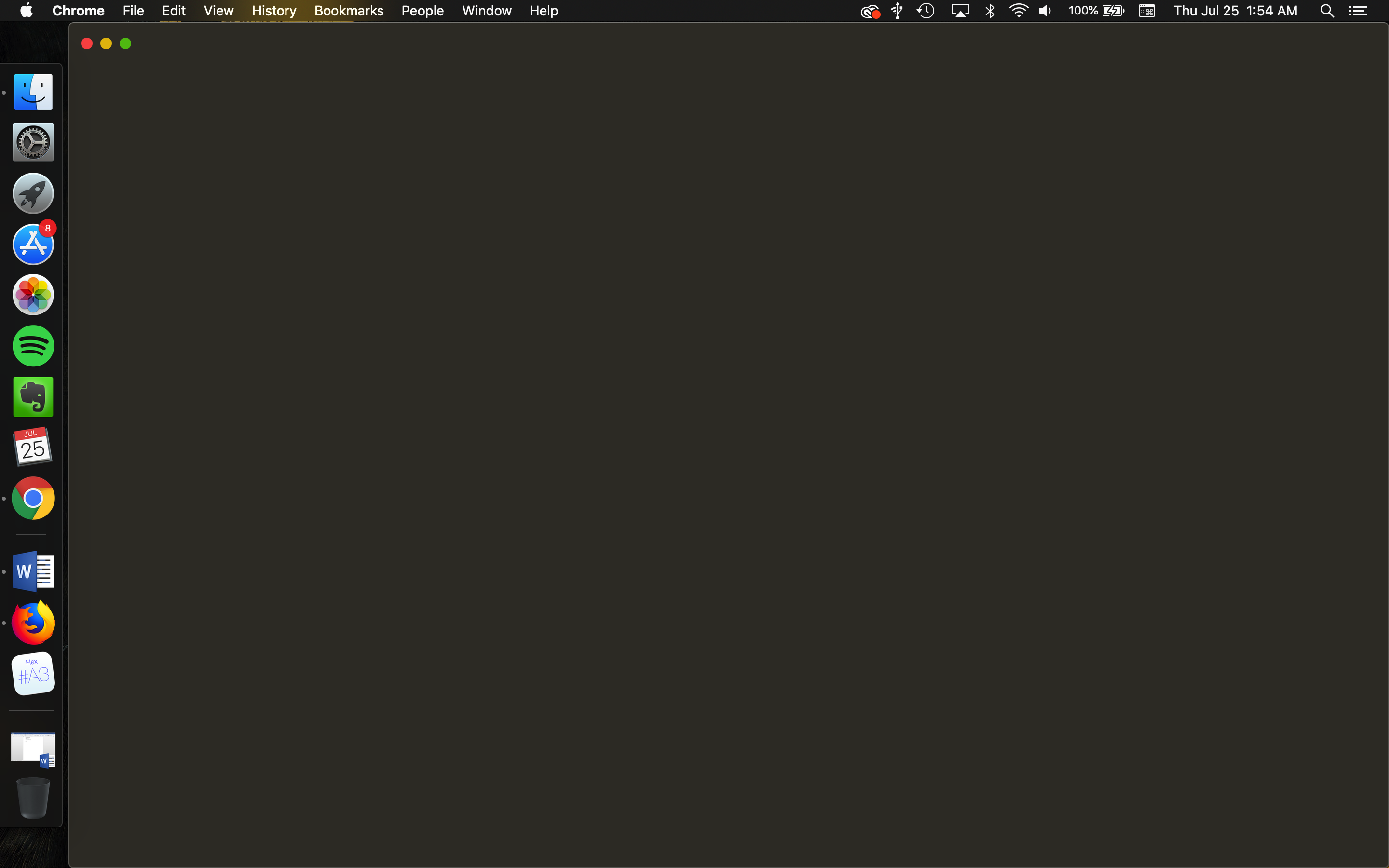 Blank screen on Google Chrome when opening on Mac (Mojave