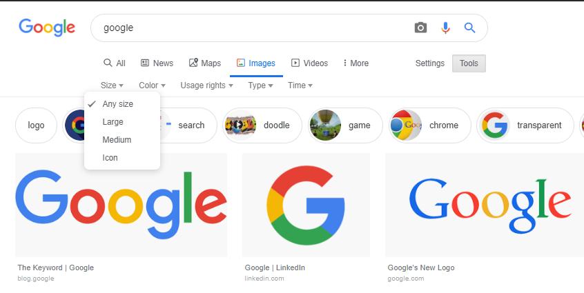 Google Search Image มี Filter สำหรับ Search Result คนทั่วไปอาจจะไม่เห็นว่ามีฟีเจอร์นี้อยู่  (Source)