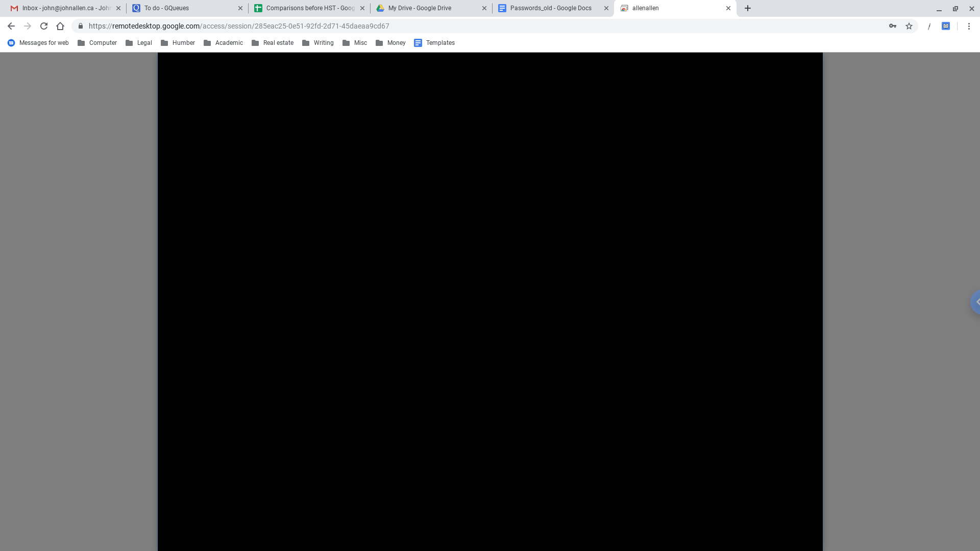 My screen goes black when I try to access my windows 12