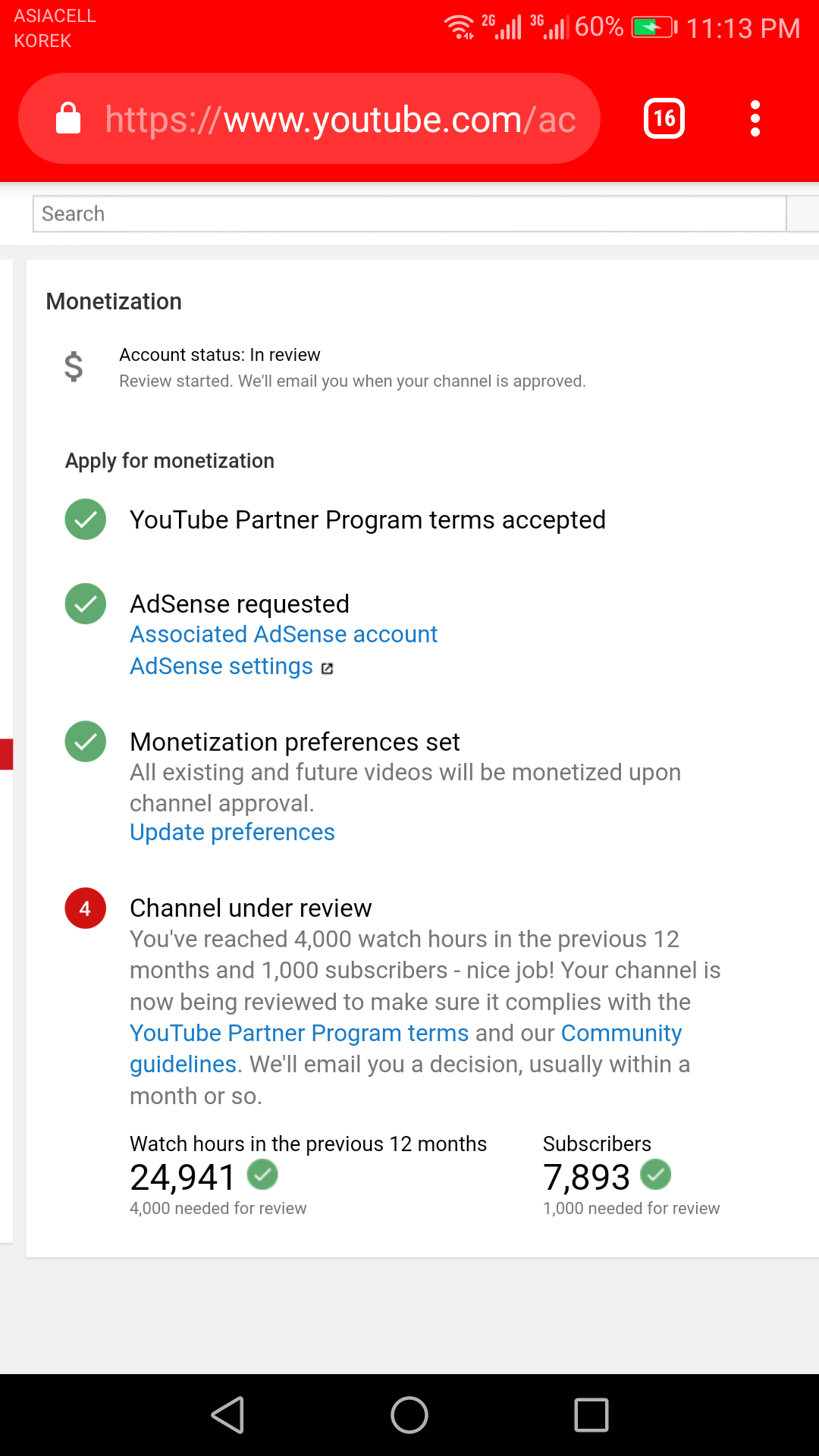 Youtube monetization under review after 1 months - YouTube Help