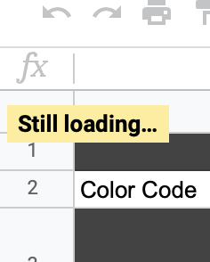 Help, Google Sheets will NOT finish loading while in my