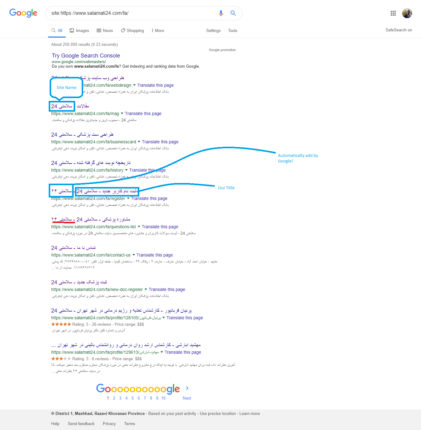 Google Duplicates my site name as a title at the end in SERP