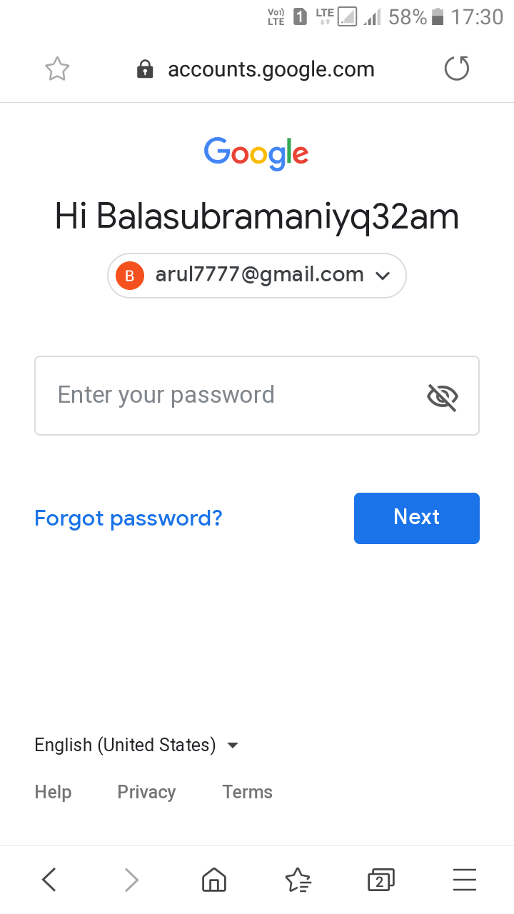 My name in gmail account appeared differently (with numbers